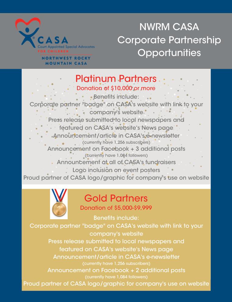Platinum & Gold Partner Benefits