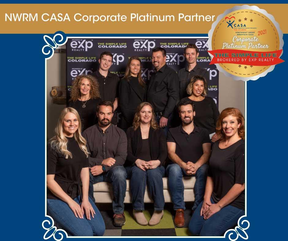 The Simple Life Team CASA Corporate Platinum Partner team photo